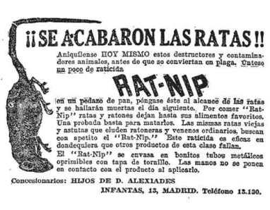 Foto 1. Anuncio de Nat-Rip aparecido en el diario ABC en 1927.