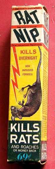 Foto 3. Imagen de una caja americana de Rat-Nip.