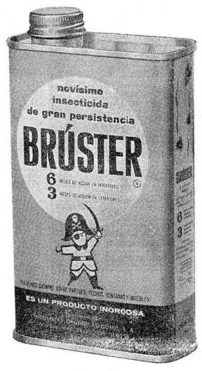 Foto 1. Lata de insecticida Brúster.