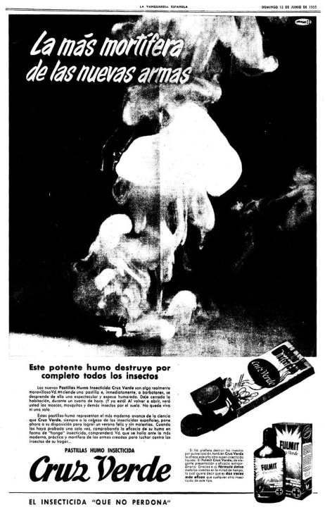 Foto 2. Anuncio publicitario aparecido en el periódico La Vanguardia en 1955.