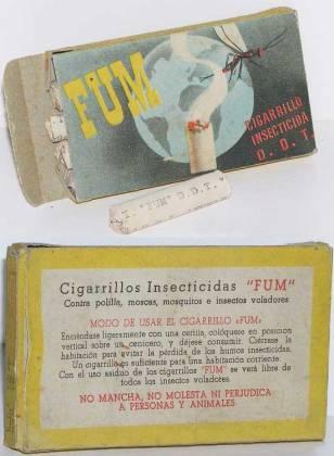 Foto 3. Cigarrillos insecticidas Fum.