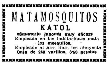 Foto 1. Anuncio publicitario publicado el sábado 31 de agosto de 1929 en el periódico La Vanguardia.