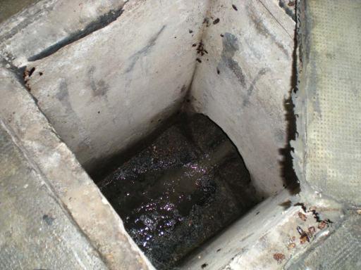 Foto 1. Registro de albañal en un aparcamiento subterráneo./ Desinsectador 07-2013