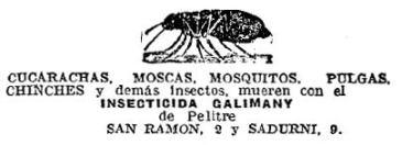 Foto. 5 Anuncio publicado en el periódico La Vanguardia el domingo 28 de mayo de 1922.
