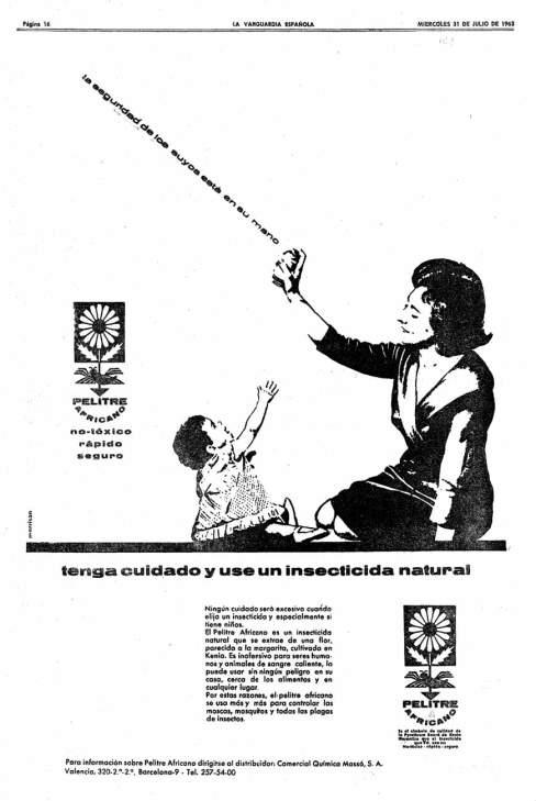 Foto 12. Anuncio publicitario publicado en el periódico La Vanguardia en 1963.