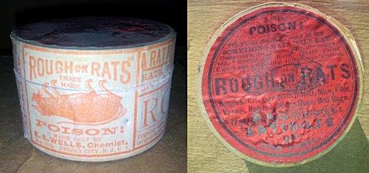 Foto 2. Imágenes de la la lata de Rough on Rats.