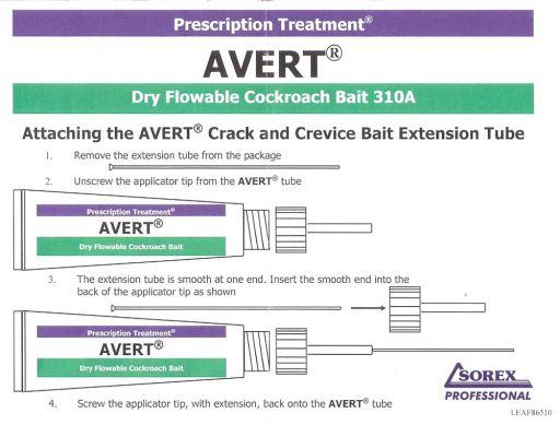 Foto 3. Folleto de Avert 310A donde se explica la utilización de la cánula.