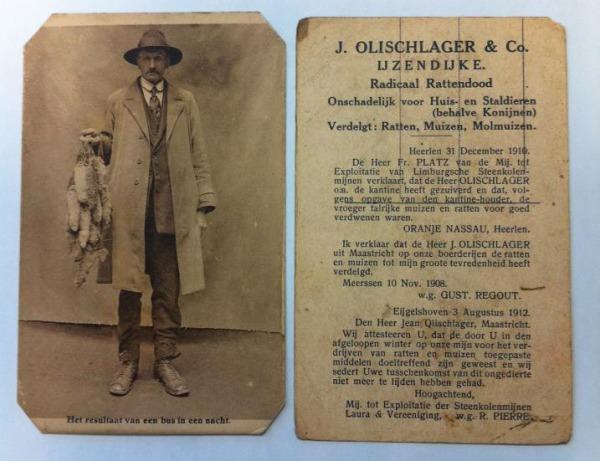 Foto 1. Documento donde aparecen testimonios que dan fe de la efectividad del trabajo de Jean Olischlager.