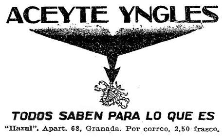 Foto 1. Anuncio publicitario publicado en el periódico ABC en 1933