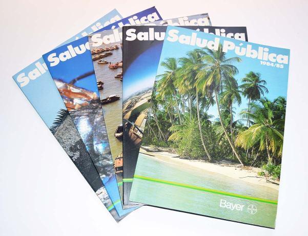 Foto 1. Ejemplares de la revista Salud Pública de Bayer./ Desinsectador 03-2014