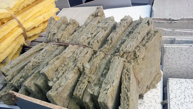 Lana de vidrio y lana de roca en el falso techo el for Lana de roca ignifuga