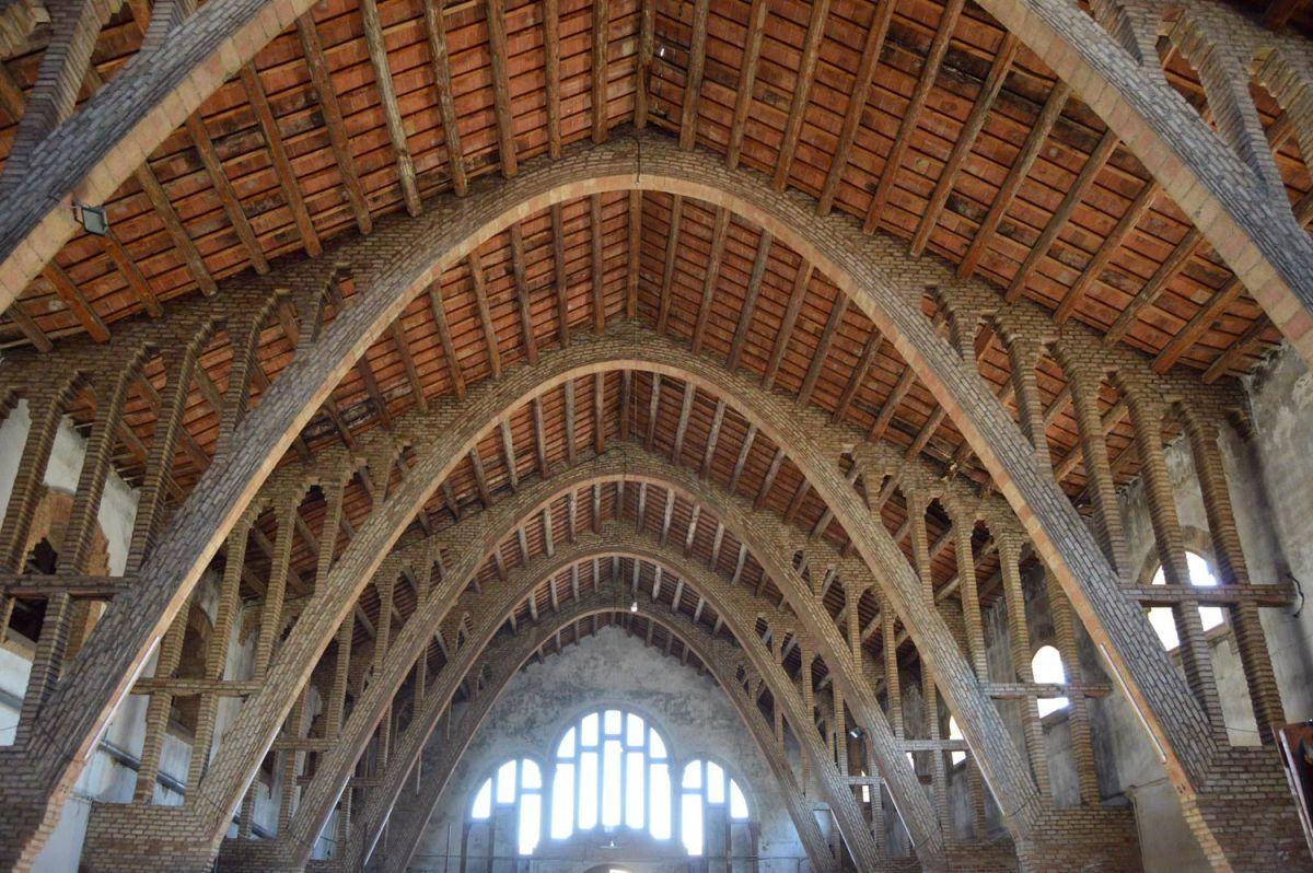 Bodega de la Cooperativa Agrícola de Rocafort de Queralt (madera estructural 1)